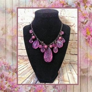 Jewelry - 📿💜 Purple Teardrop Gem Necklace 💜